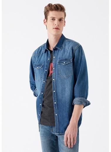 Mavi Rio Vintage  Jean Gömlek Mavi